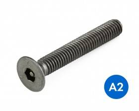 METRIC COUNTERSUNK PIN HEX SECURITY MACHINE SCREWS STAINLESS GRADE A2/304 DIN 7991