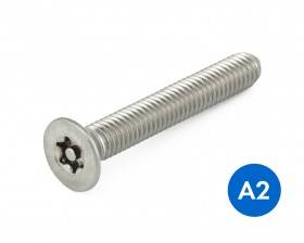 METRIC COUNTERSUNK PIN TORX® SECURITY MACHINE SCREWS STAINLESS GRADE A2/304 DIN 7991