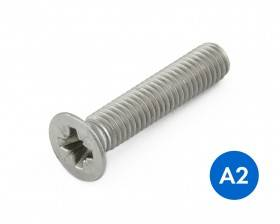 METRIC COUNTERSUNK CRS (POZI) MACHINE SCREWS STAINLESS GRADE A2/304 DIN 965