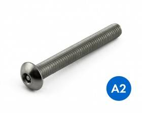 METRIC BUTTON HEAD PIN HEX SECURITY MACHINE SCREWS STAINLESS GRADE A2/304 ISO 7380