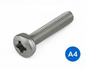 METRIC PAN CRS (POZI) MACHINE SCREWS STAINLESS A4/316 DIN 7985